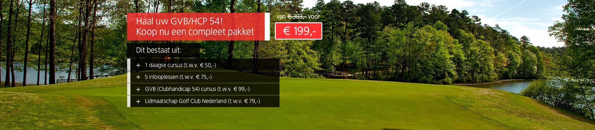 Compleet GVB pakket - Golfschool Waterland - Amsterdam Golfbaan Spaarnwoude