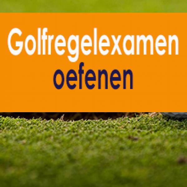 Golfregelexamen oefenen